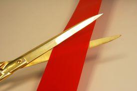 ribbon cutting post