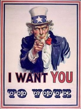 uncle sam wants you to vote